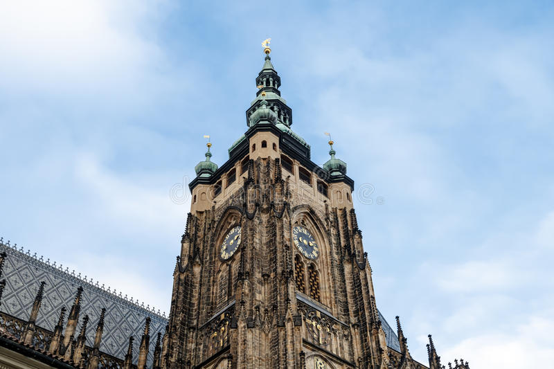 St Vitus Cathedral Tower stock photography