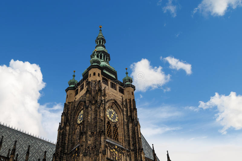 St Vitus Cathedral Tower royalty free stock photo