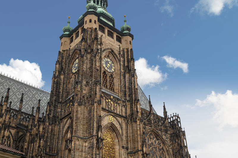 St Vitus Cathedral Tower royalty free stock photography