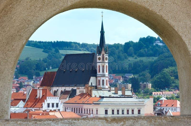 St Vitus Church dans Cesky Krumlov (République Tchèque) photographie stock libre de droits