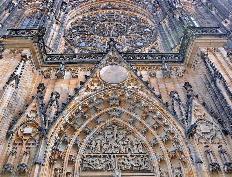 St Vitus gotische Kathedraal in Praag stock fotografie