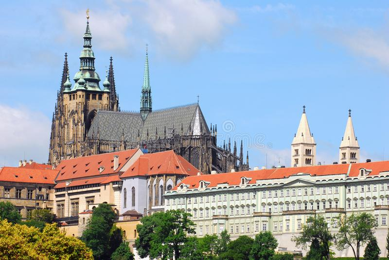St Vitus katedra w Praga zdjęcie stock