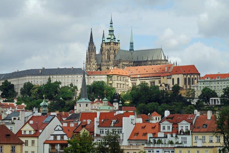 St Vitus Kathedraal, het Kasteel van Praag, Hradcany, Praag stock afbeelding