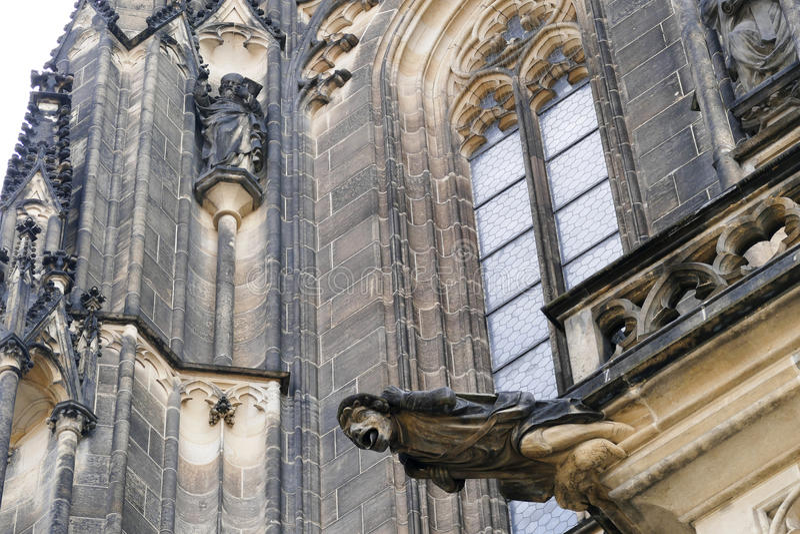 St Vitus kathedraal, Praag stock foto