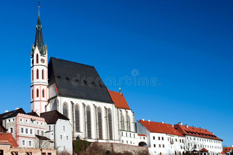 St. Vitus Kerk in Cesky Krumlov royalty-vrije stock afbeeldingen