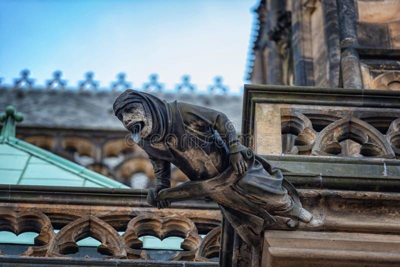 St Vitus Praga republika czech katedralni gargulece fotografia royalty free