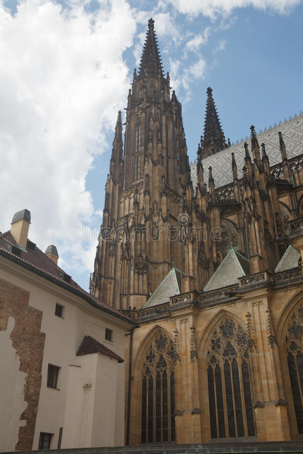 St. Vitus is a Roman Catholic cathedral situated in the Prague. Castle complex royalty free stock photo