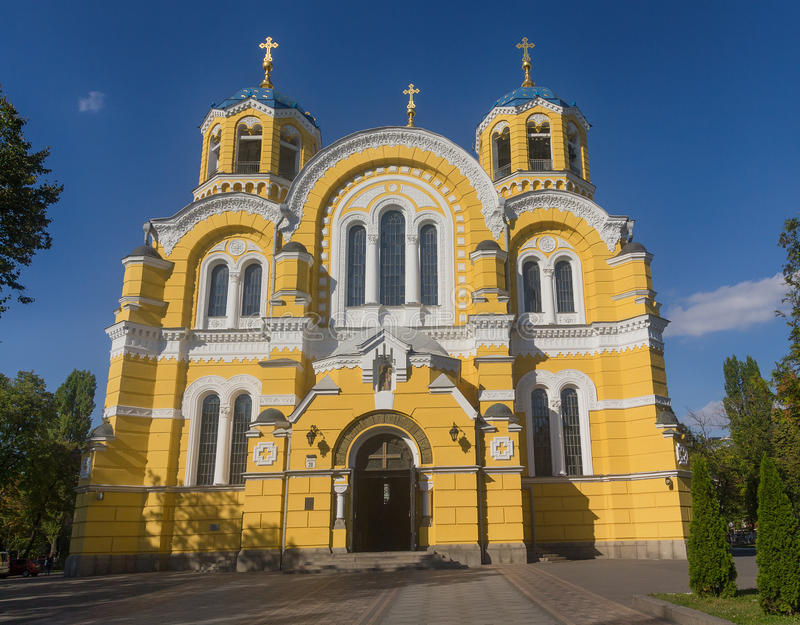 St Vladimir Cathedral Patriarchal Cathedral kiev stock afbeelding