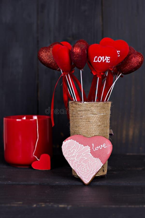 St Walentynki ` s dzień Śniadanie życie na walentynka dniu, wciąż obrazy royalty free