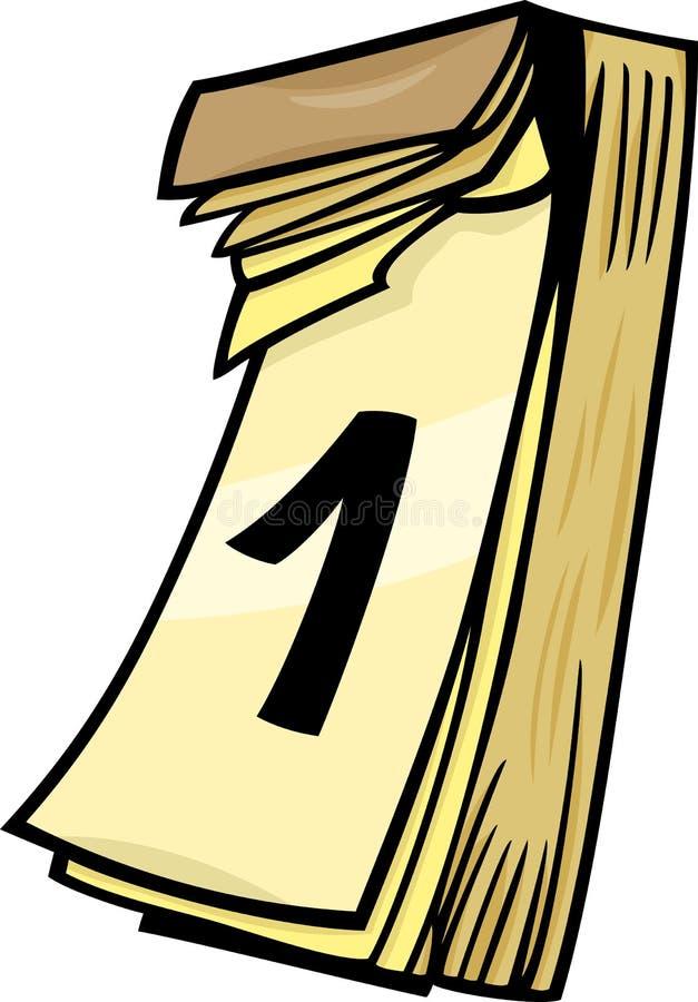 1st on wall calendar cartoon clip art stock vector for Clipart calendario