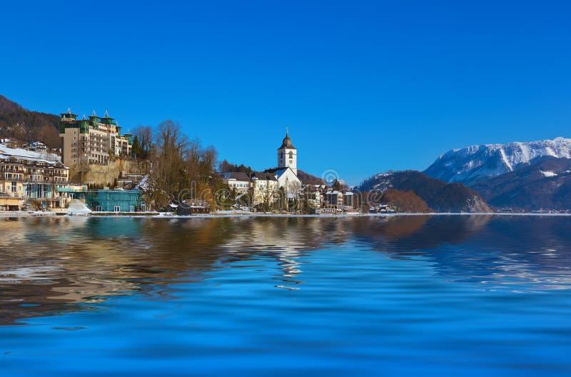 St Wolfgang - Áustria da vila imagens de stock royalty free
