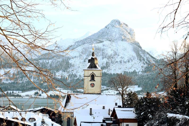 St Wolfgang, Österreich stockbilder