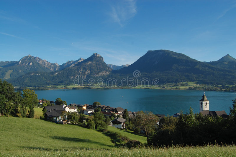 Download St.Wolfgang beautiful view stock photo. Image of peaceful - 7781526