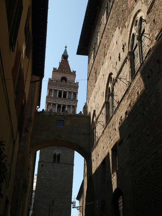 St Zeno's Cathedral - Pistoia. View of St Zeno's Cathedral - Pistoia, Tuscany, Italy stock images