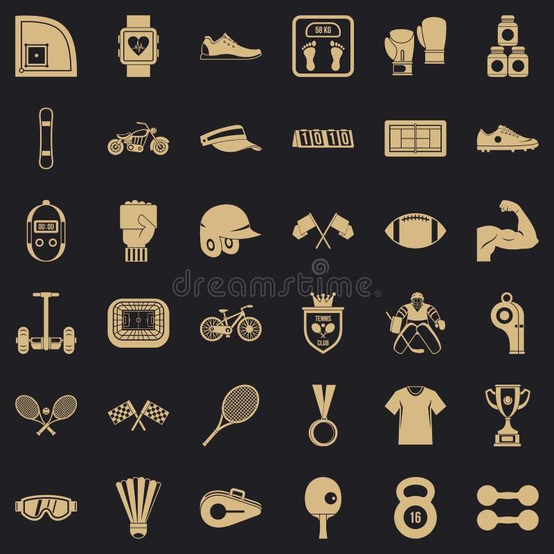 Stażowe ikony ustawiać, prosty styl ilustracja wektor