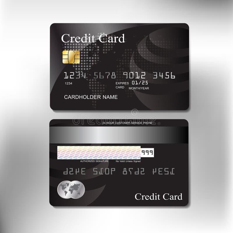 Stać na czele realistyczną kredytową kartę i popiera wektorowy projekt fotografia royalty free