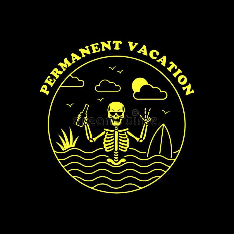 STAŁEGO ELEMENTU surfingowa odznaki koloru żółtego URLOPOWY ZREDUKOWANY czerń ilustracji