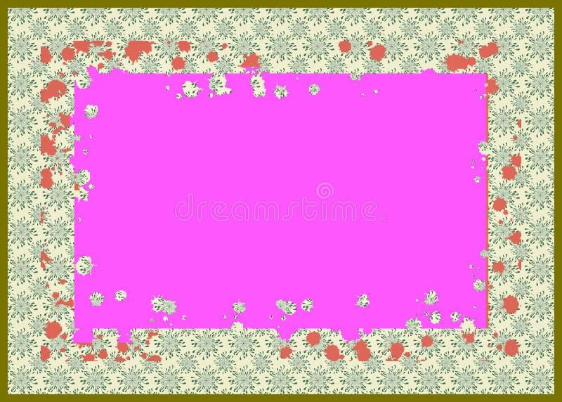 Stałego koloru tła i geometrical linie, kąty, okręgi ilustracji