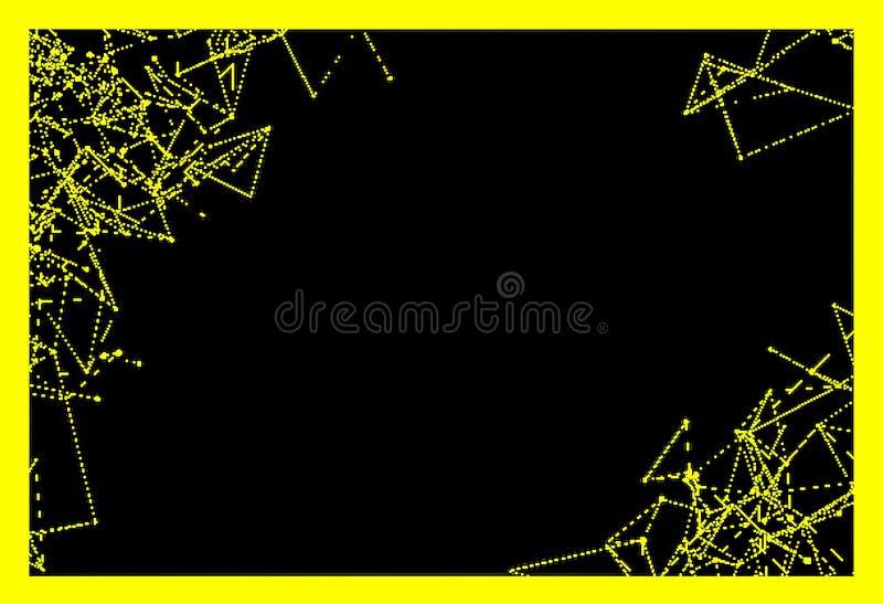 Stałego koloru tła i geometrical linie, kąty, okręgi ilustracja wektor