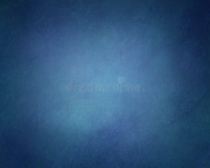 Stały błękitny tło z rocznika czerni i tekstury winietą graniczy royalty ilustracja