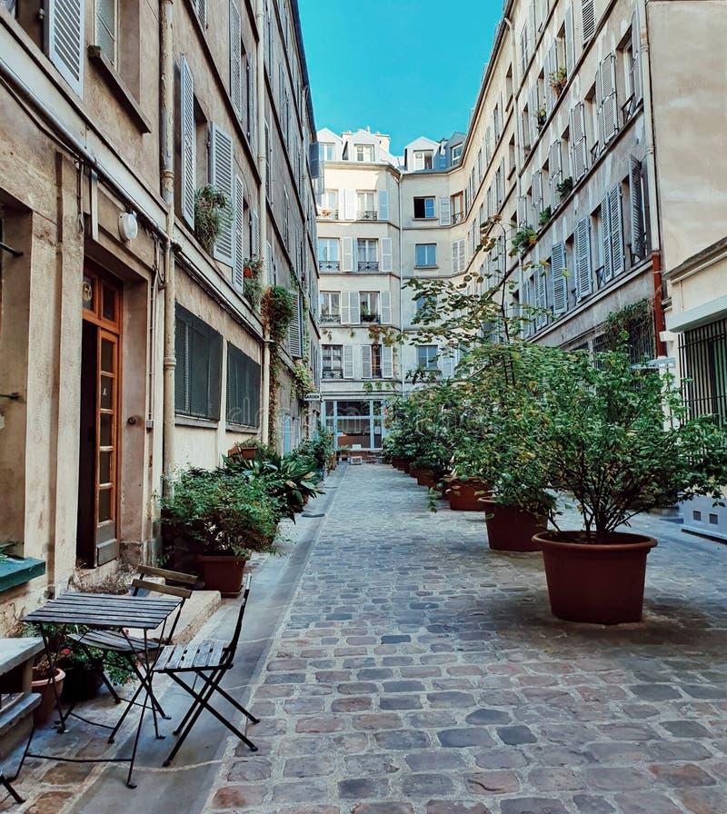 Stażysta paryskiego budynku w centrum Paryża, styl architektury husmanńskiej, Paryż, Francja zdjęcia royalty free
