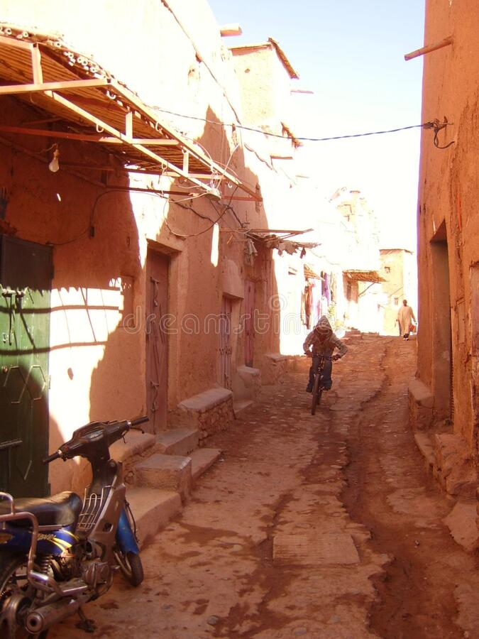 Download STA50125 stock photo. Image of alley, bike, morocco, street - 86217336
