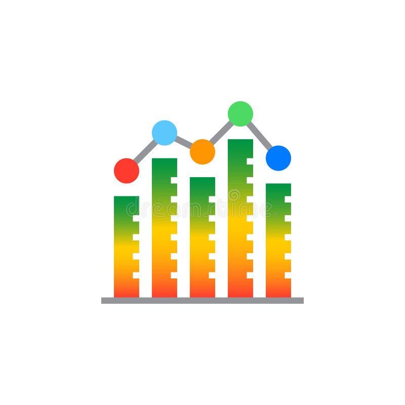 Staaf graph het pictogram vector, gevuld vlak teken van de kolomgrafiek, vast lichaam stock illustratie