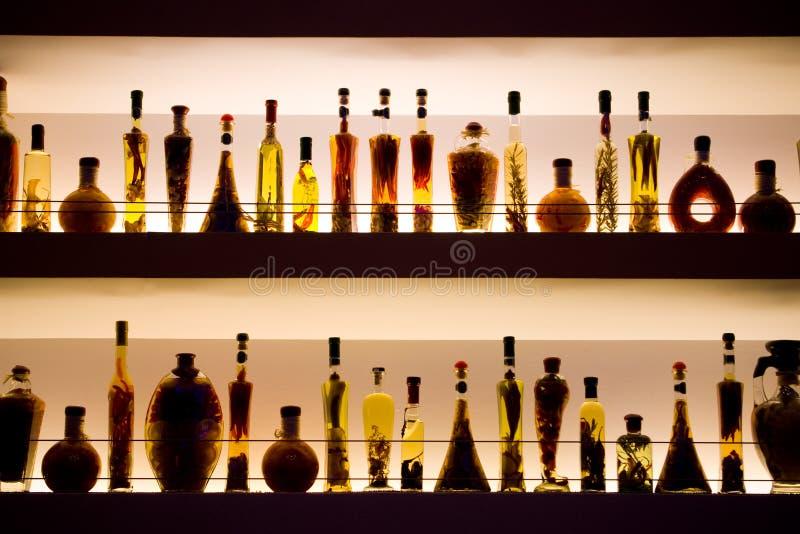 Staaf II van flessen royalty-vrije stock afbeeldingen