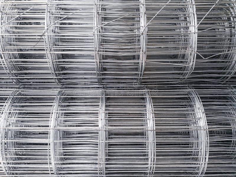Staalbar die voor bouwconstructie voorbereidingen treffen stock fotografie