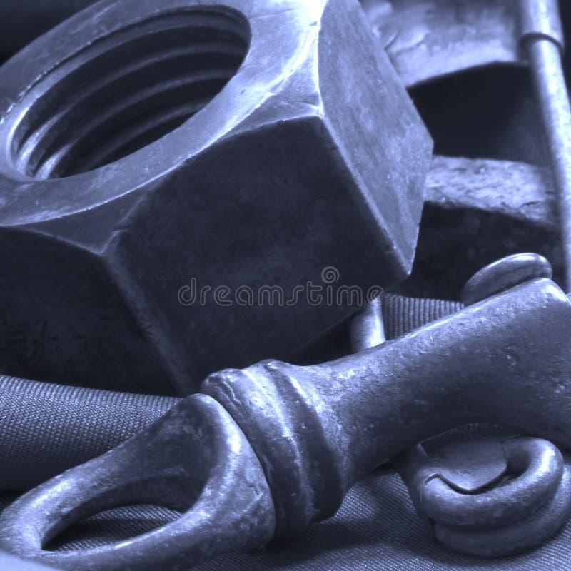 Staalbevestigingsmiddelen stock foto's