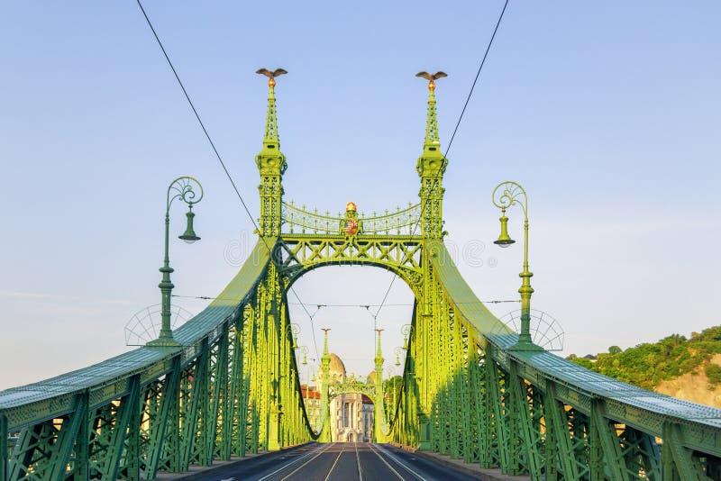 Staalbrug Boedapest stock fotografie