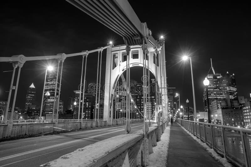 Staalbrug in Pittsburgh stock foto's