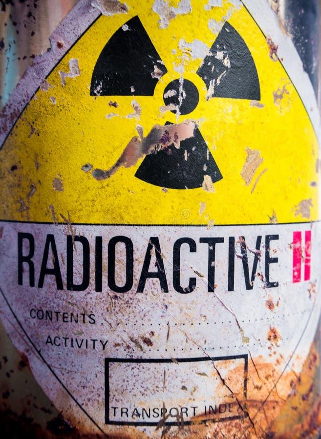 Staalcontainer Radioactief materiaal royalty-vrije stock afbeelding
