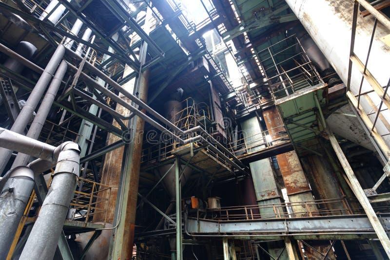 Staalfabriek royalty-vrije stock afbeeldingen