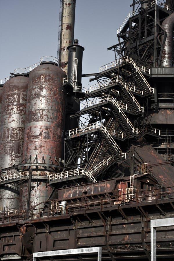 Staalfabriekdetail stock afbeelding