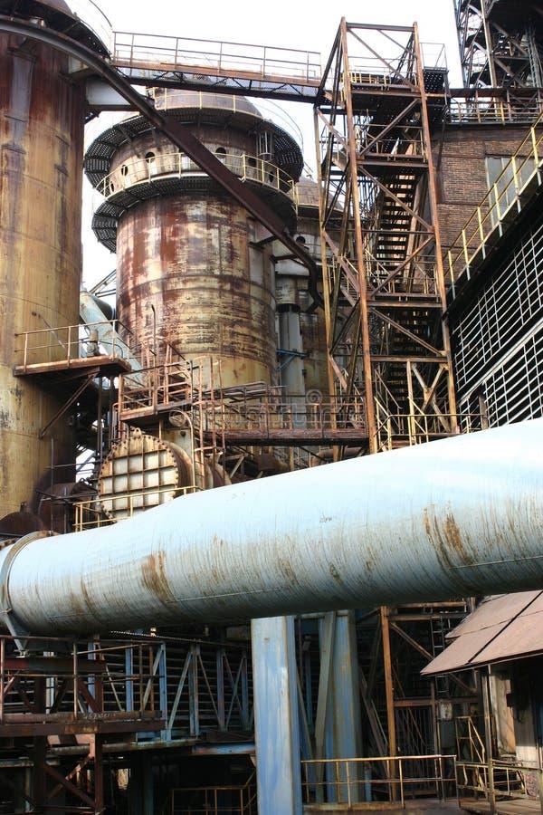 Staalfabrieken Vitkovice stock afbeelding