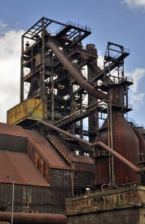 Staalfabrieken Vitkovice stock foto