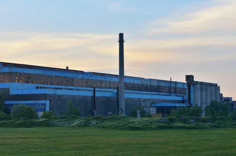 Staalfabriekfabriek royalty-vrije stock afbeelding