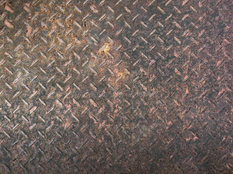 Staalplaat met roestig als textuur royalty-vrije stock afbeeldingen