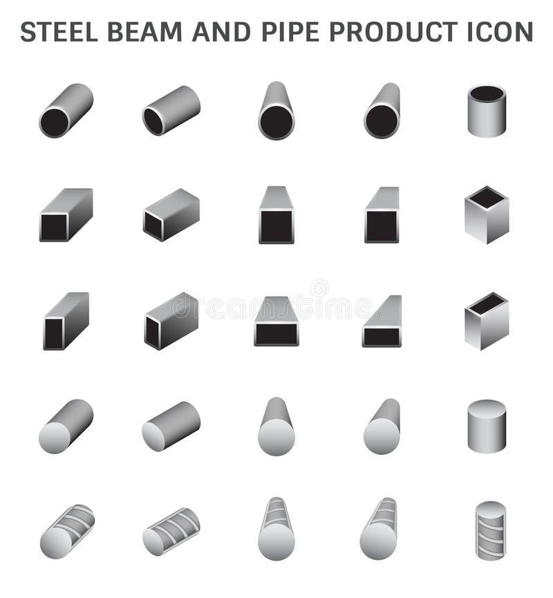 Staalproductpictogram stock illustratie