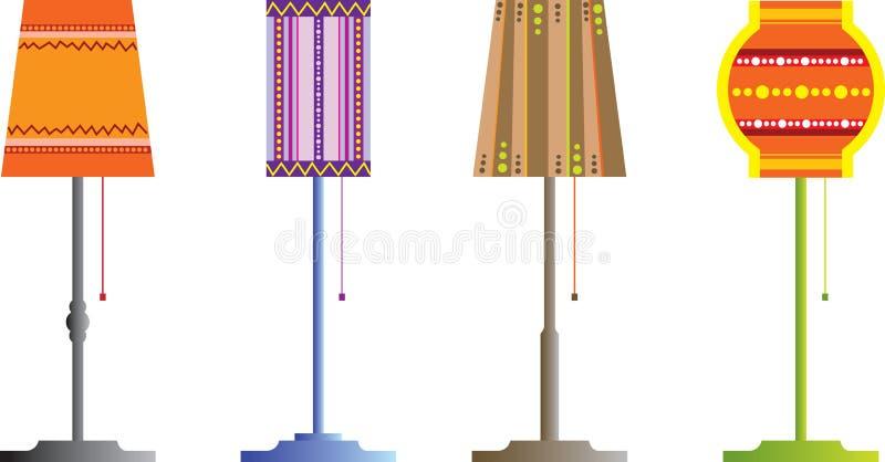Staande lampen vector illustratie