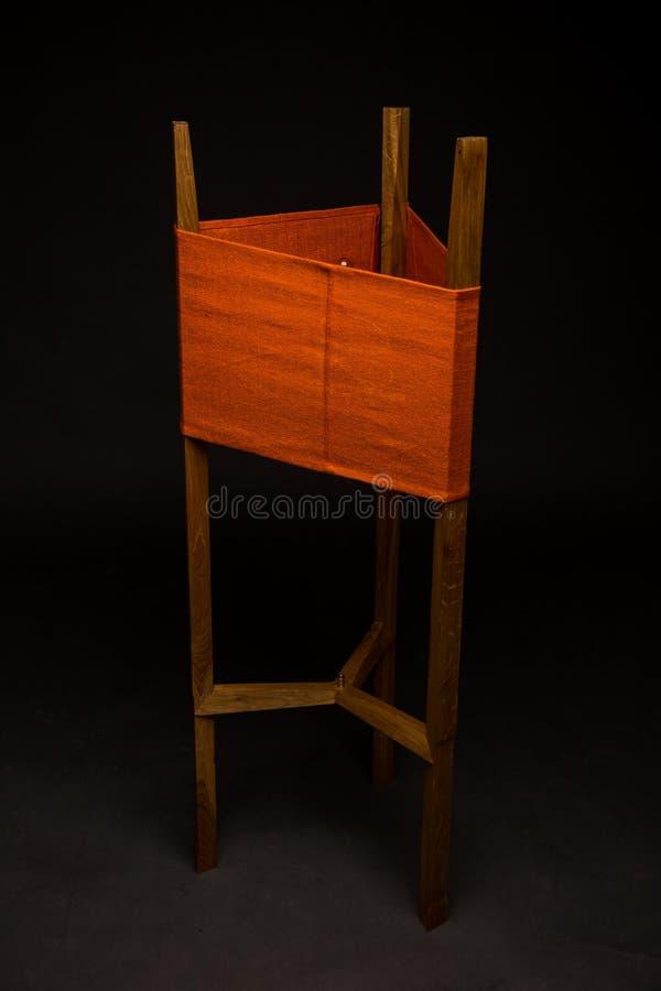 Staande lampen houten ontwerp royalty-vrije stock afbeeldingen