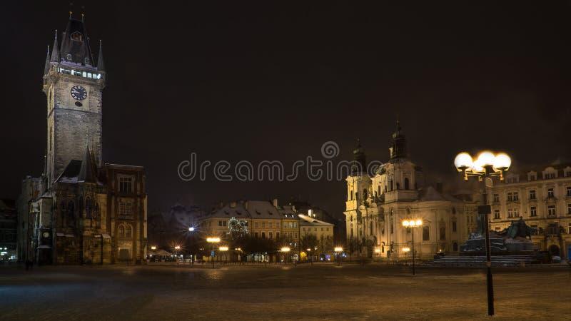 Staar mesto vierkant Praag stock fotografie