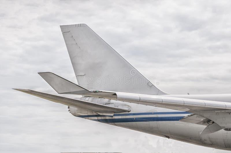 Staartstuk van een luchtvliegtuig royalty-vrije stock foto