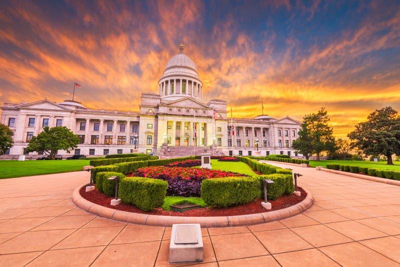 Staat Arkansas-Kapitol-Gebäude stockbild