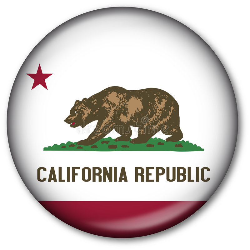 Staat California-Markierungsfahnen-Taste stock abbildung