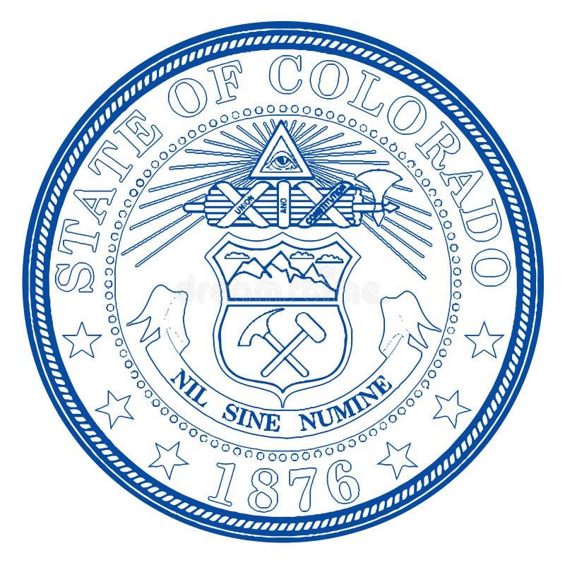 Staat Colorado-Dichtung stock abbildung