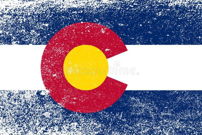 Staat Colorado-Flaggen-Schmutz stock abbildung