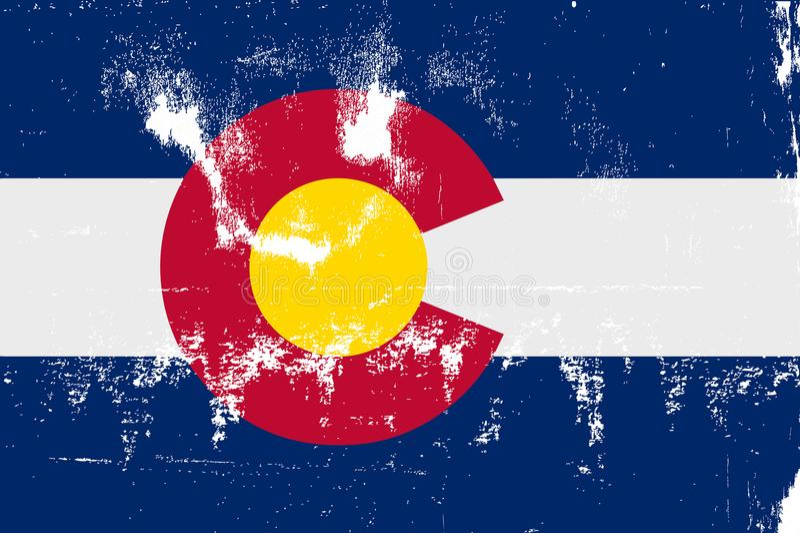Staat Colorado-Flaggen-Schmutz lizenzfreie abbildung