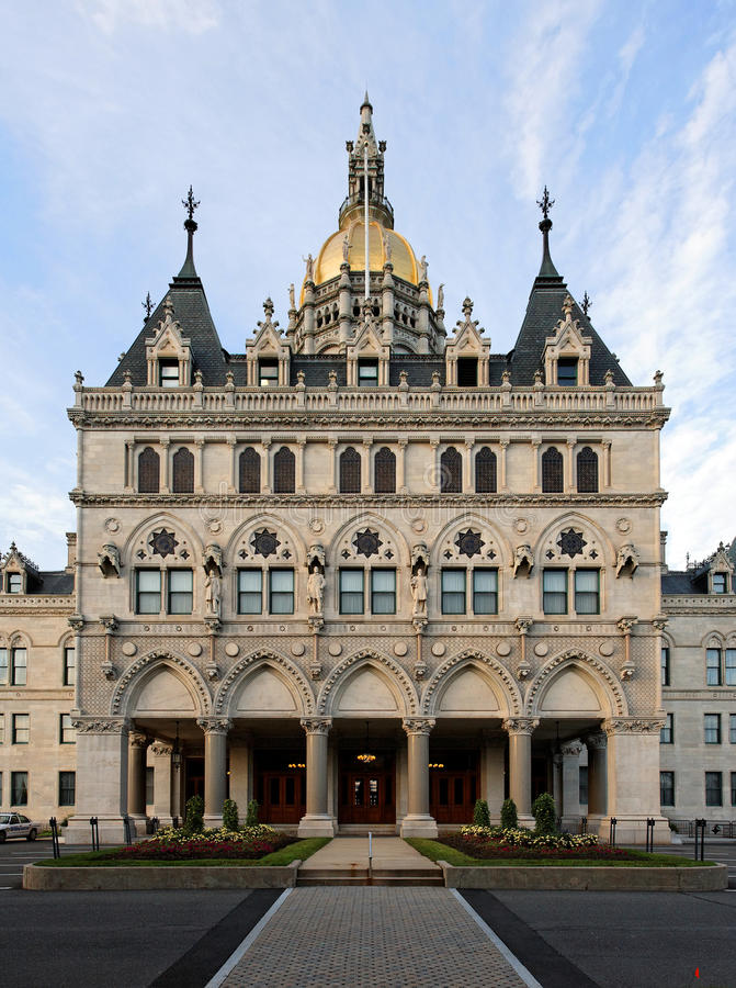 Staat Connecticut-Kapitol-Gebäude lizenzfreie stockbilder
